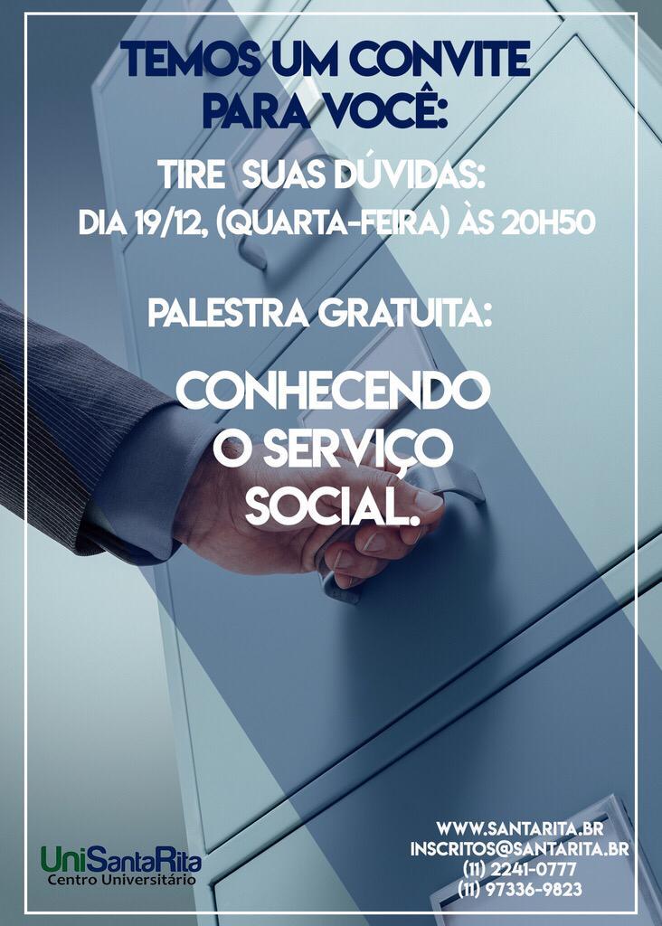 Palestra de Serviço Social