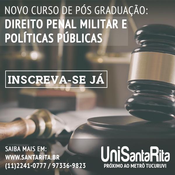 Nova Pós Graduação de Direito Penal Militar e Políticas Públicas