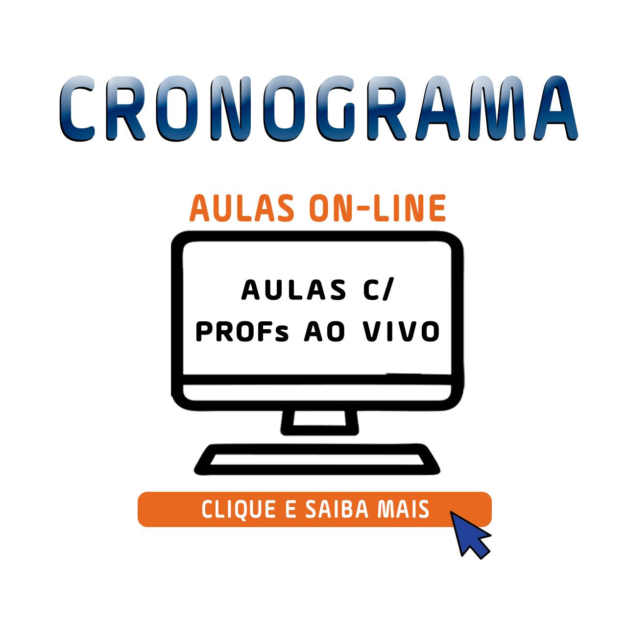 CRONOGRAMA DAS AULAS